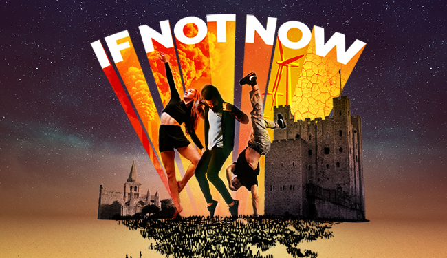 If Not Now show: dancers and performers in front of Rochester Castle